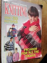 VINTAGE KNITTING PATTERN MAGAZINE MY WEEKLY KNITTING SPECIAL 50+ PATTERNS DOGS